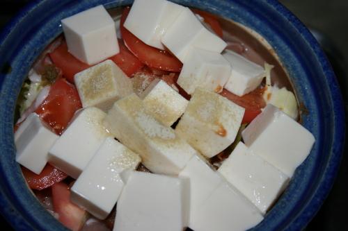 キムチ鍋豆腐トッピング